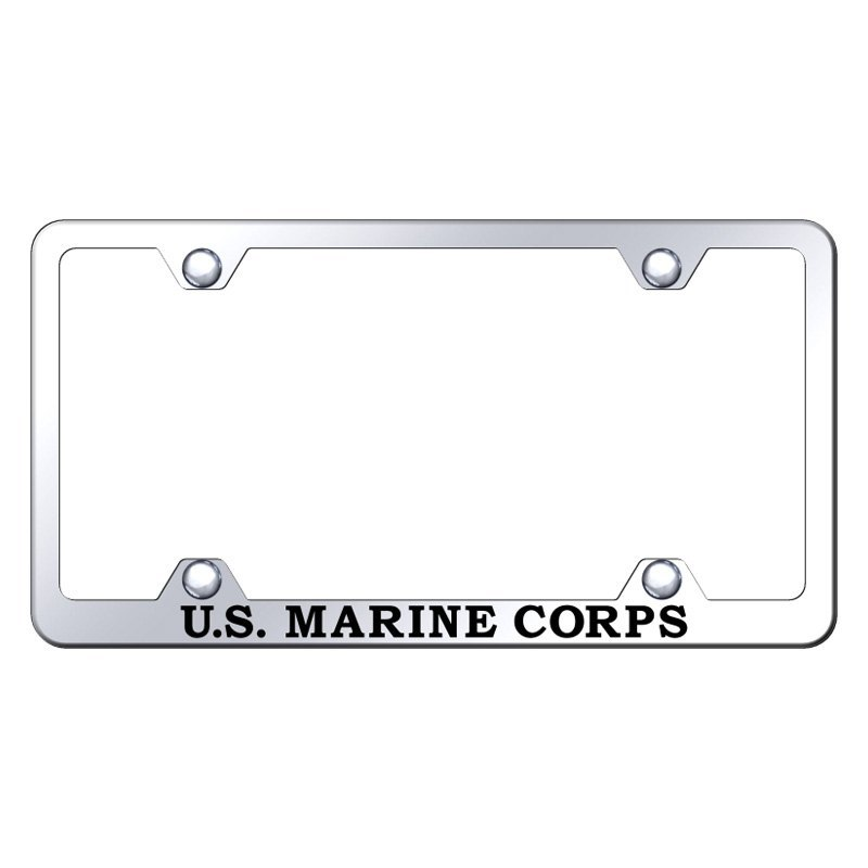 Autogold Wide Body License Plate Frame With Laser Etched Us