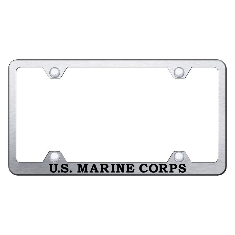 Autogold® - Wide Body License Plate Frame with Laser Etched U.S. ...