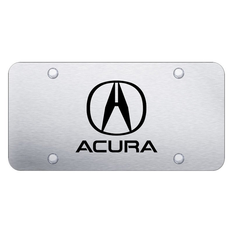 Autogold PLACUES Brushed License Plate With Laser Etched Acura - Acura license plate