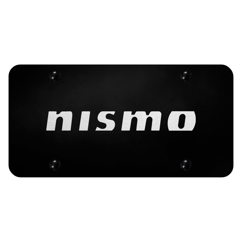autogold pl nsm eb black license plate with laser etched nismo logo carid com
