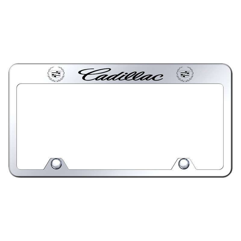 Autogold® RF.CAD.EC - Inverted Chrome License Plate Frame with ...