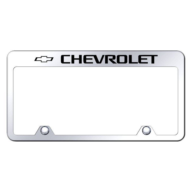 autogold inverted license plate frame with engraved chevy logo - Engraved Frame