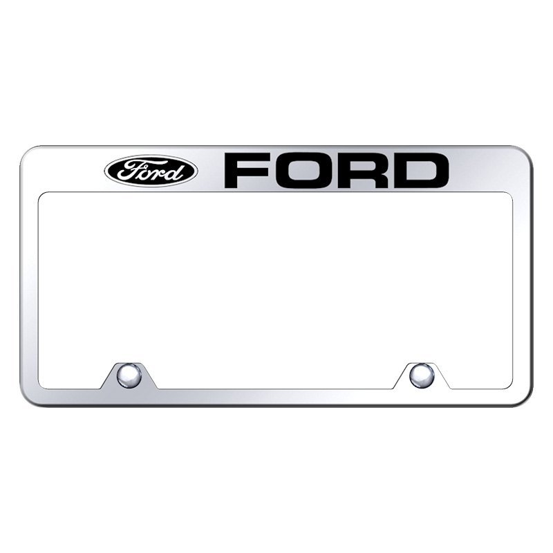 Autogold® RF.FOR.EC - Inverted Chrome License Plate Frame with ...