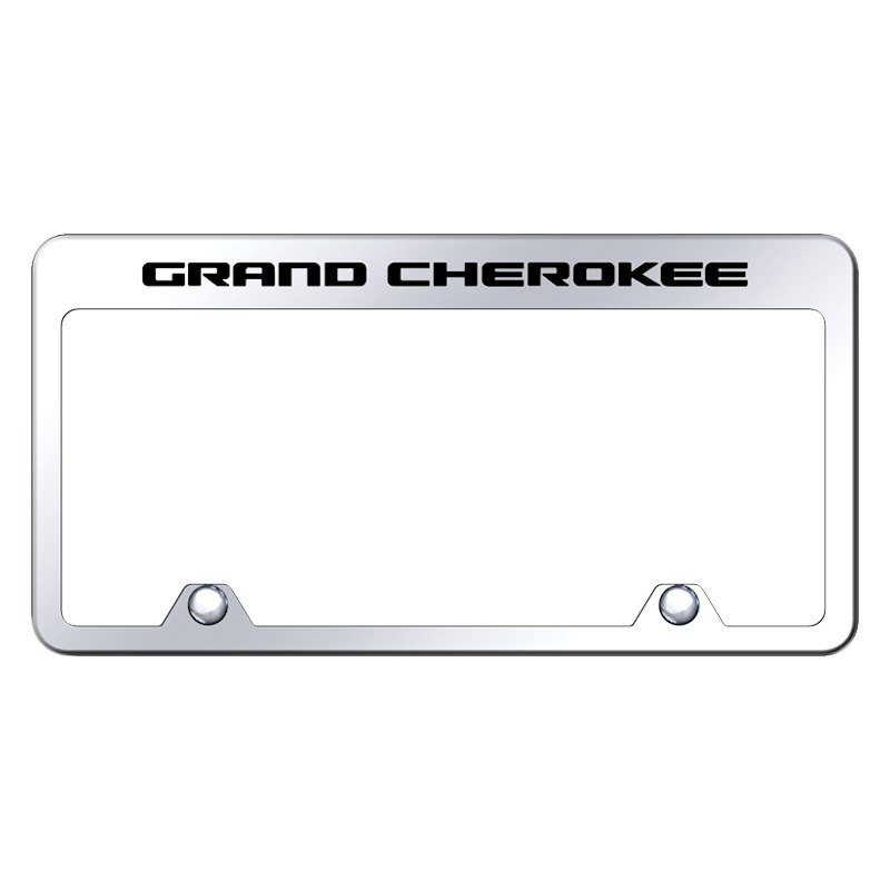 Autogold® - Inverted License Plate Frame with Engraved Grand ...