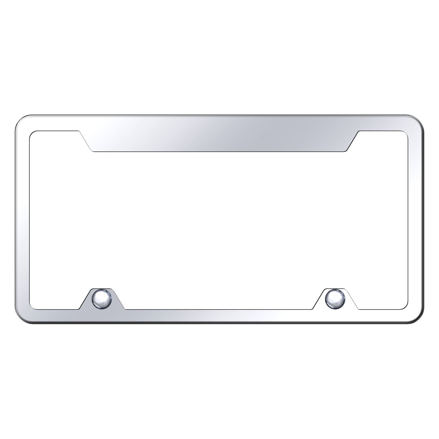 autogold wide top license plate frame