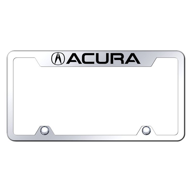 Autogold Inverted License Plate Frame With Engraved Acura Logo - Acura license plate frame