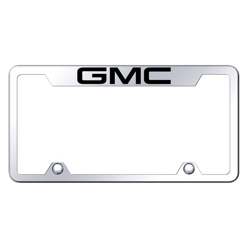 Autogold® TF.GMC.EC - Truck Chrome License Plate Frame with Laser ...