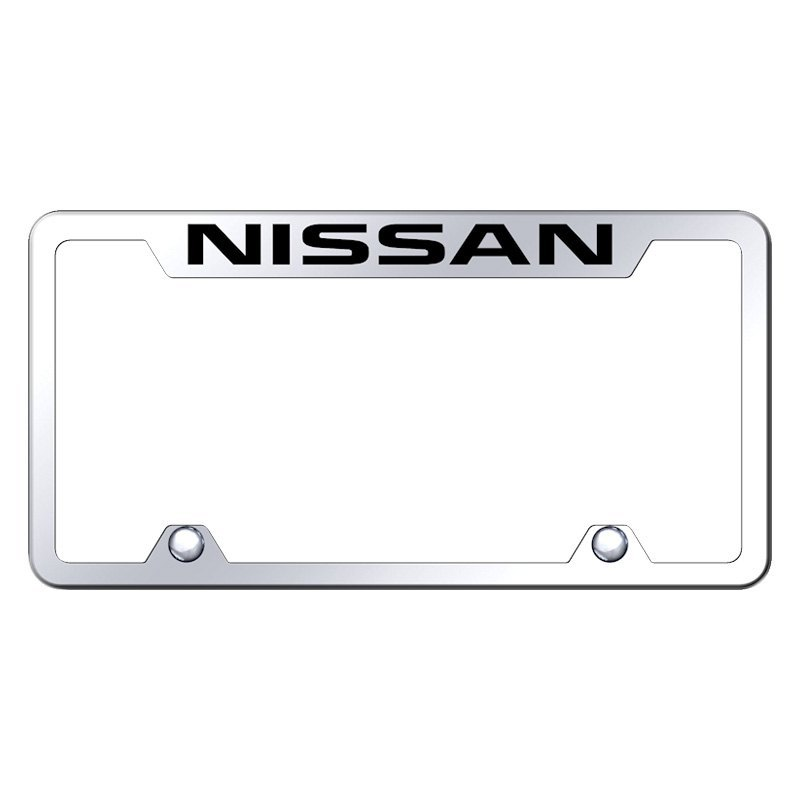 Autogold® TF.NIS.EC - Truck Chrome License Plate Frame with Laser ...