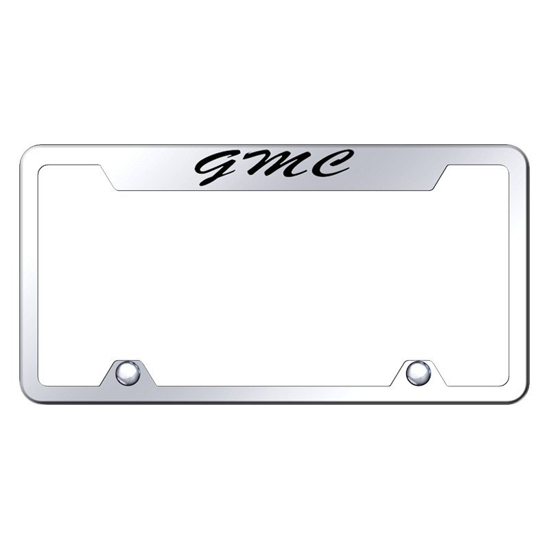 Autogold® TFS.GMC.EC - Truck Chrome License Plate Frame with Script ...