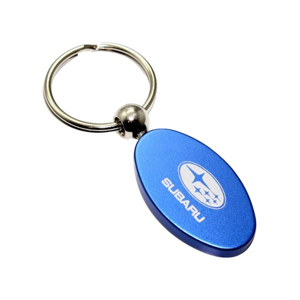 Volvo Blue Oval Key Chain: Miu Miu Blue Trick Metallo Oval Crystal