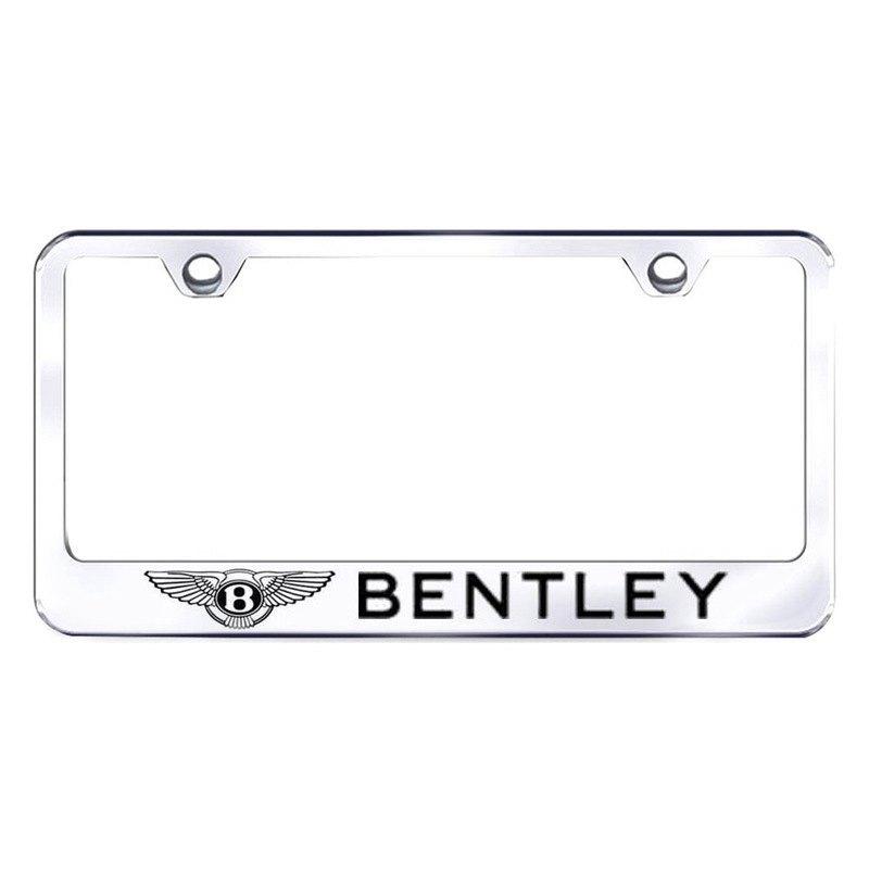 autogold lf ben ec chrome license plate frame with. Black Bedroom Furniture Sets. Home Design Ideas