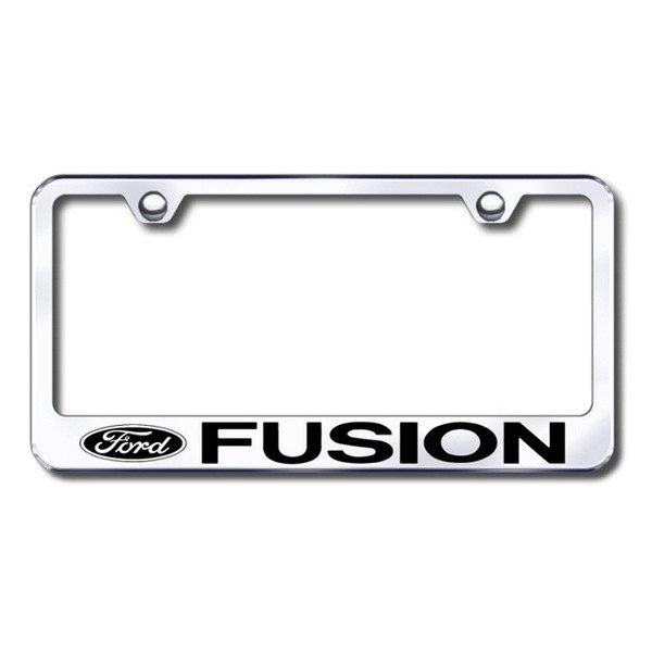Ford Fusion Chrome License Plate Frame