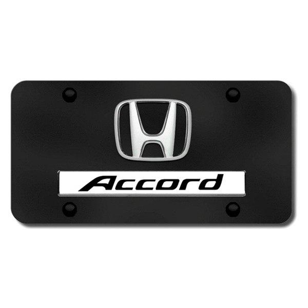 Autogold 174 D Acc Cb Black License Plate With Chrome