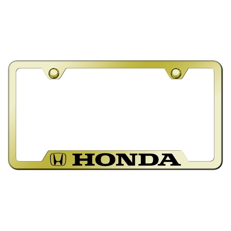 Autogold 174 License Plate Frame With Laser Etched Honda Logo