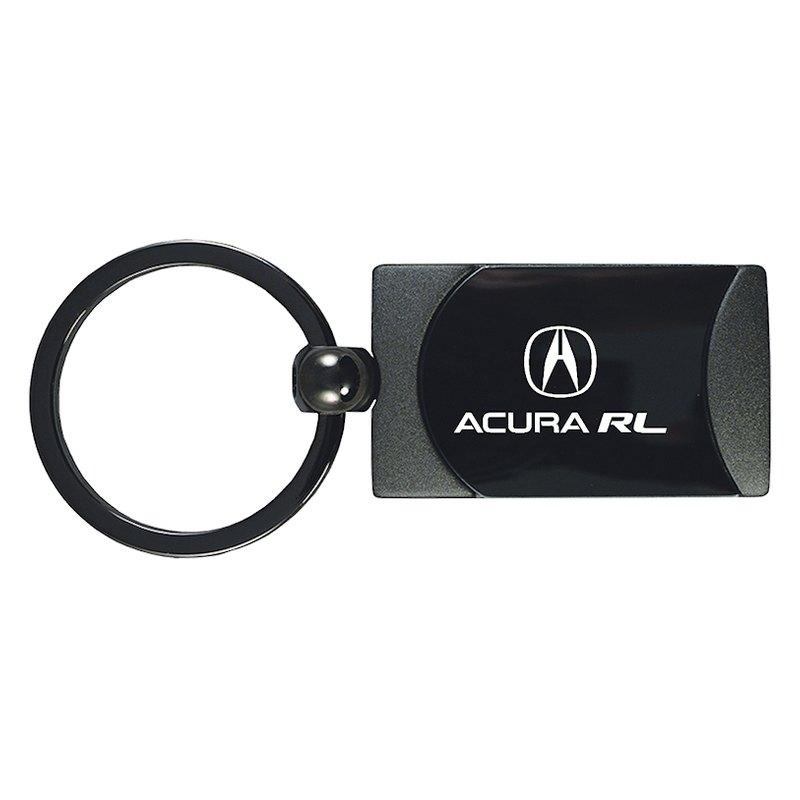 Autogold KCARLGM Acura RL Gun Metal TwoTone Rectangular - Acura keychain