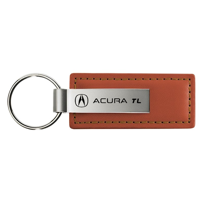 TL Brown Leather Key Chain