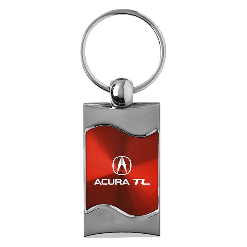 TL Rectangular Wave Red Key Chain