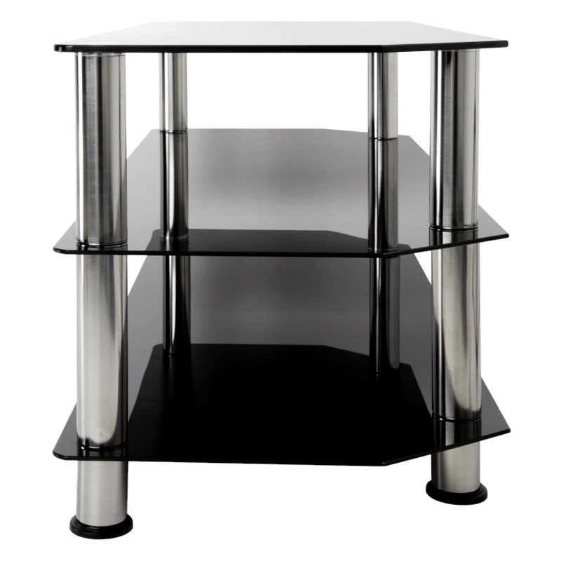 avf glass tv stand with chrome legsavf glass tv stand with chrome legsavf glass tv stand
