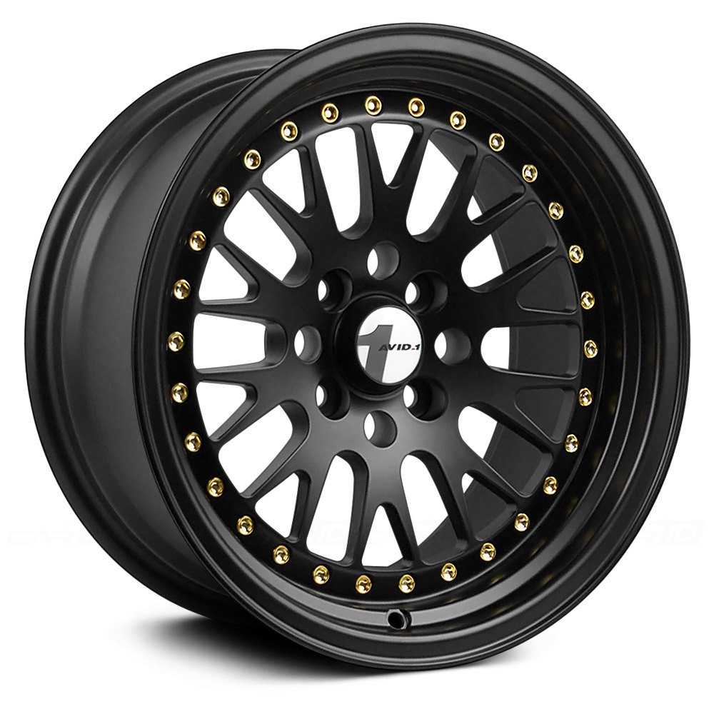 Avid 1 174 Av 12 Wheels Black With Gold Rivets Rims