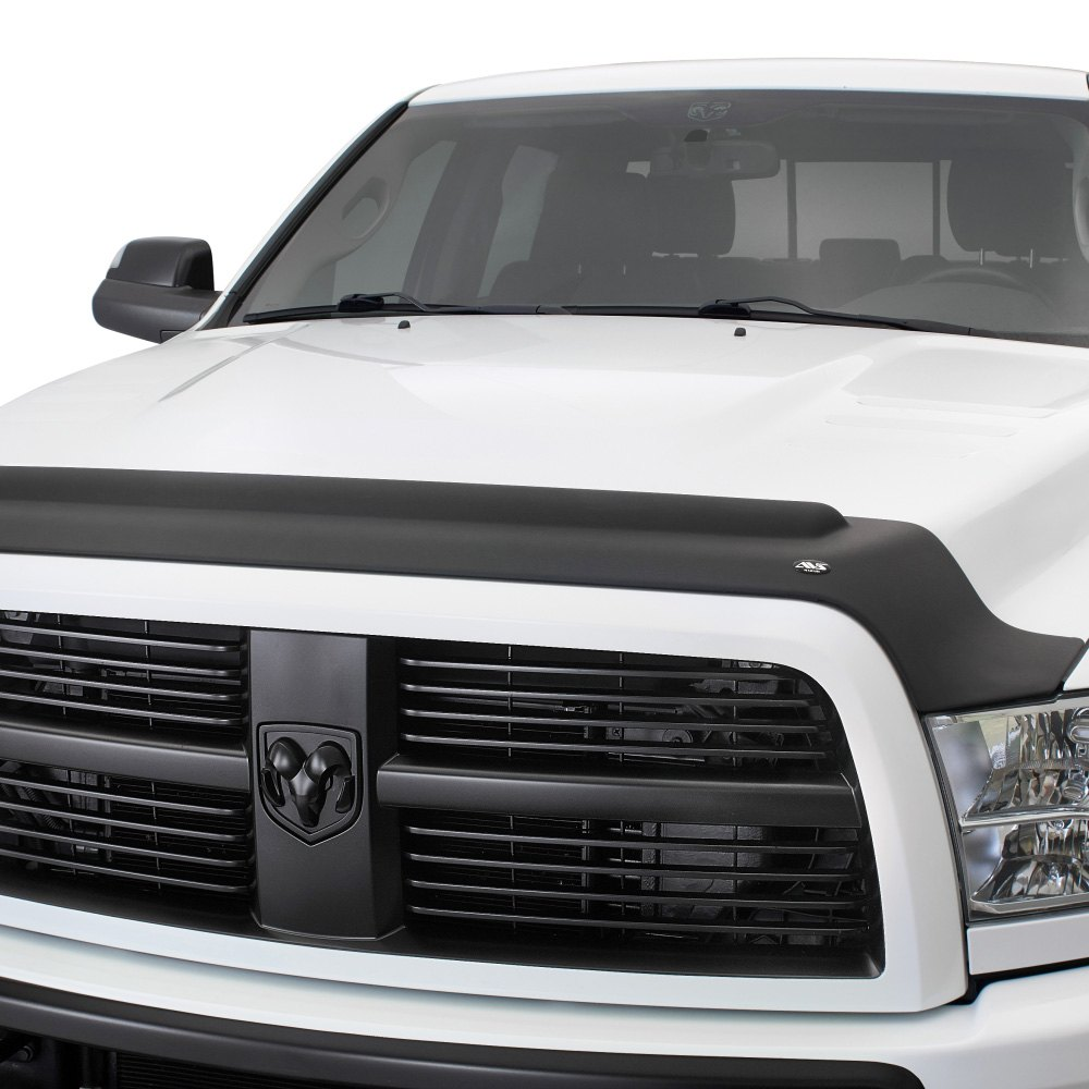 avs dodge ram 2011 aeroskin ii matte black hood shield. Black Bedroom Furniture Sets. Home Design Ideas