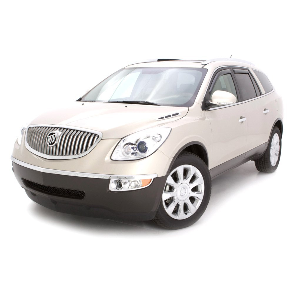Buick Enlave: For Buick Enclave 08-17 Window Deflectors In-Channel