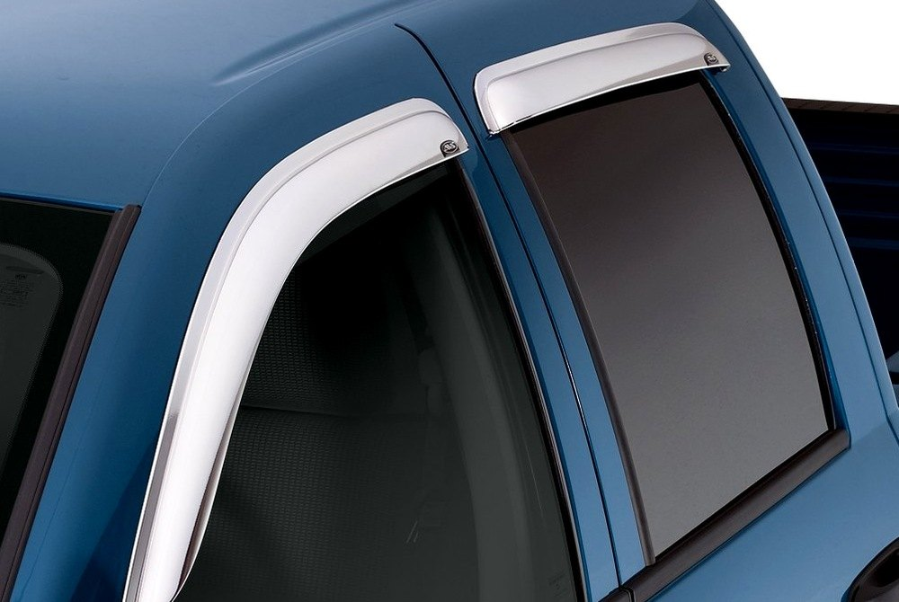 For 2017-2018 Chevrolet Silverado 1500 Side Window ... |White Silverado Window Deflectors