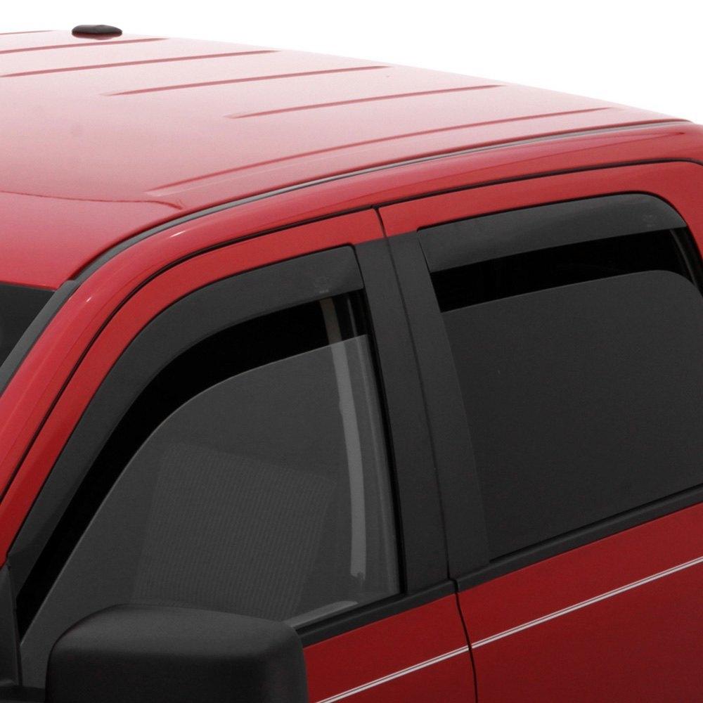 For Chevy Colorado 15-19 Window Deflectors Tape-On Low Profile Ventvisor Smoke