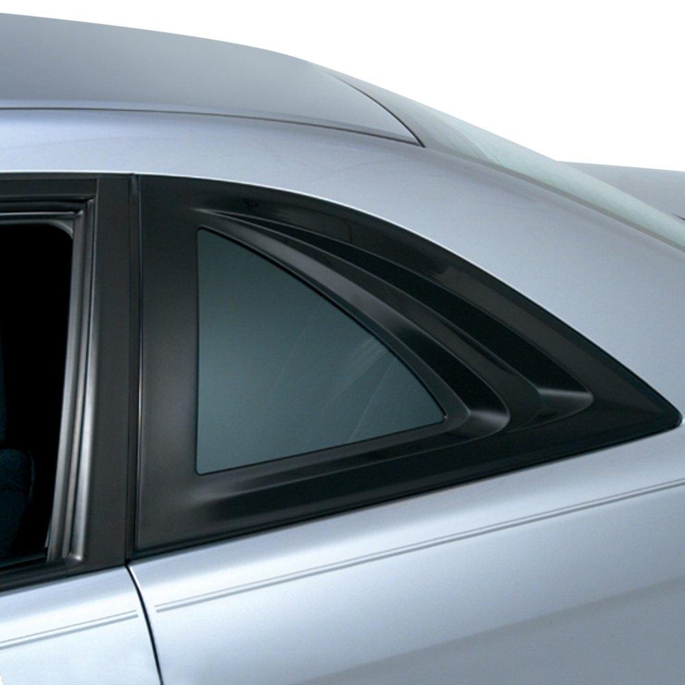 Plastic Covered Window : Avs aeroshade black rear side window covers