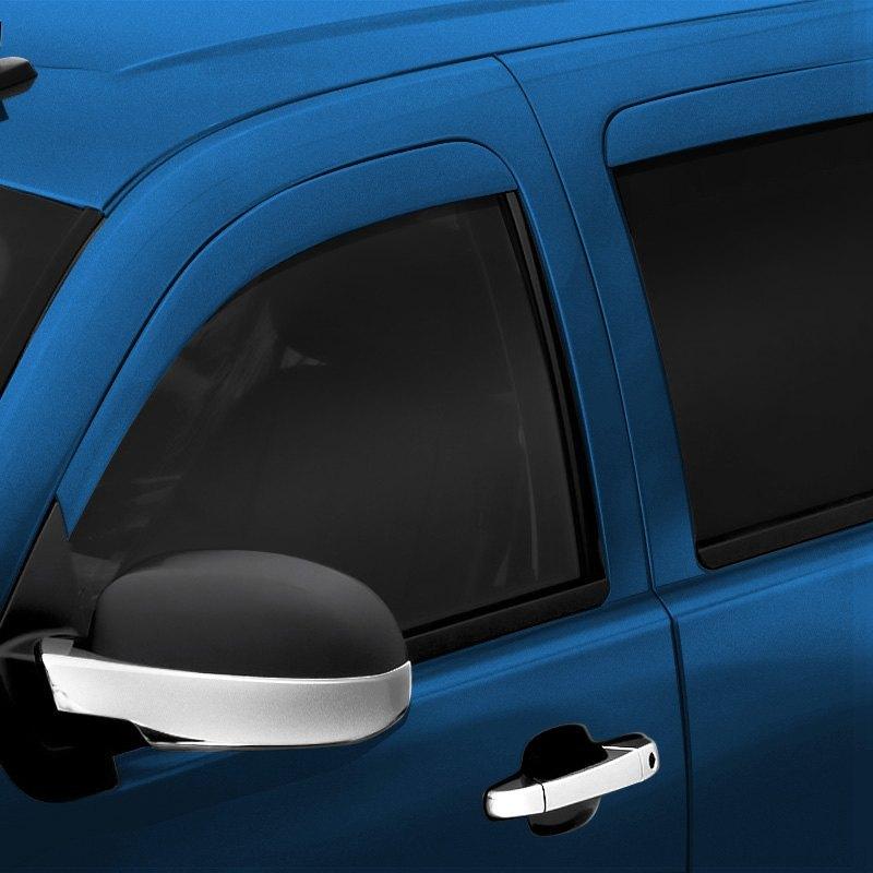 Auto Ventshade 994036-40 Color Match Low Profile Ventvisor Side Window Deflector 4-Piece Set for 2016-2018 Toyota Tacoma Double Cab Super White