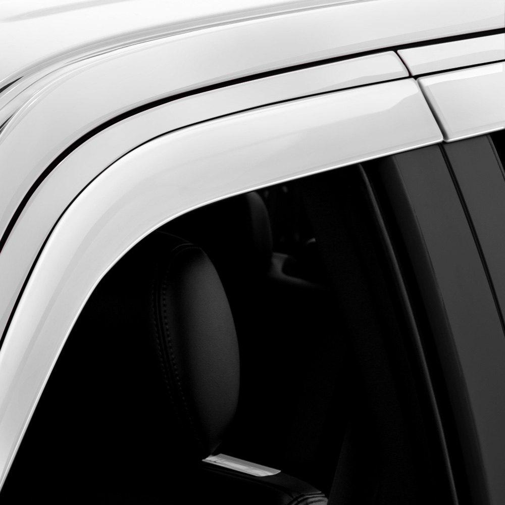2016 Silverado 1500 Side Window Deflector, Smoke Black, In ... |White Silverado Window Deflectors