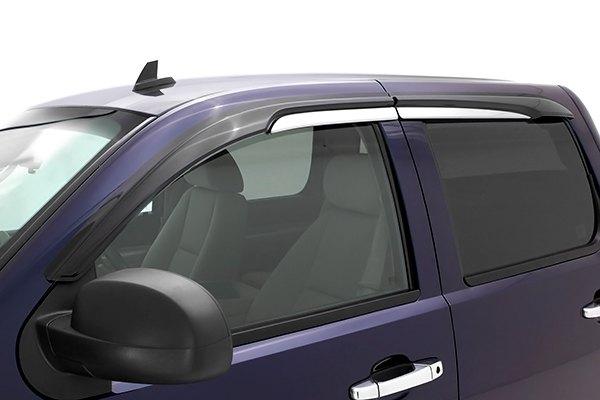 AVS® - Chevy Silverado 2015 Tape-On Standard Ventvisor ... |White Silverado Window Deflectors