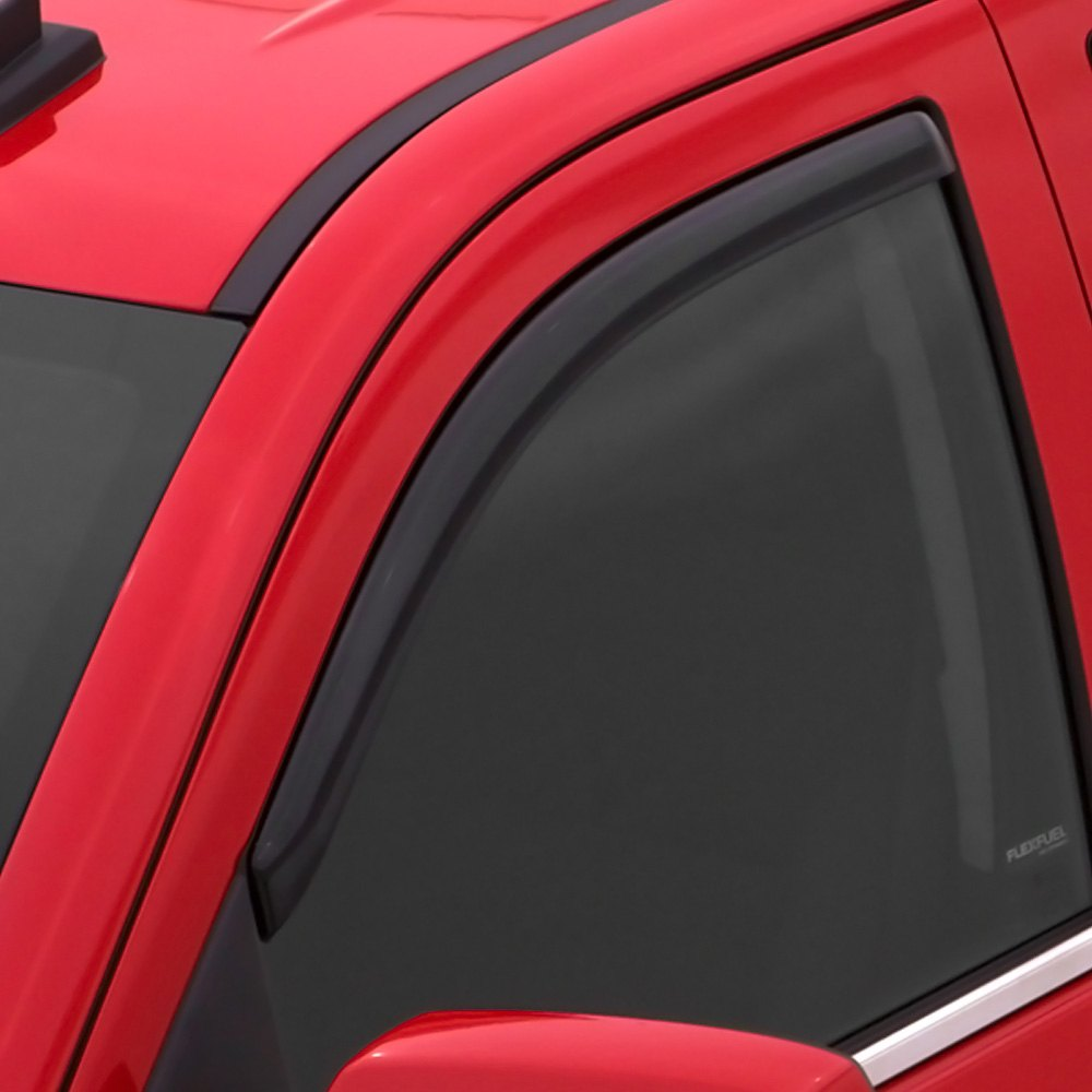 Avs toyota tacoma 2016 in channel ventvisor smoke for Window guards