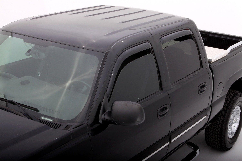 Weathertech Silverado Front Side Window Deflectors - Dark ... |White Silverado Window Deflectors