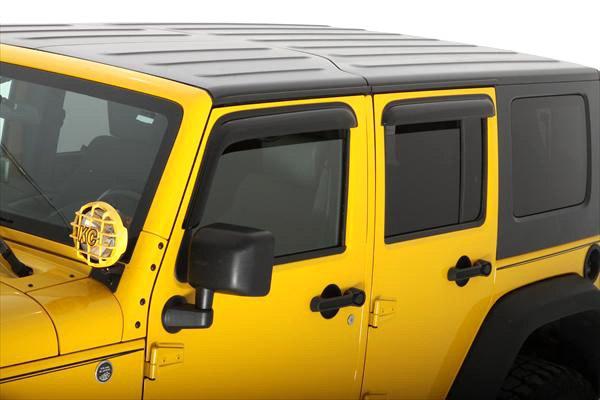 Avs Vent Shades >> AVS® - Jeep Wrangler 2015-2017 Tape-On Standard Ventvisor™ Smoke Window Deflectors