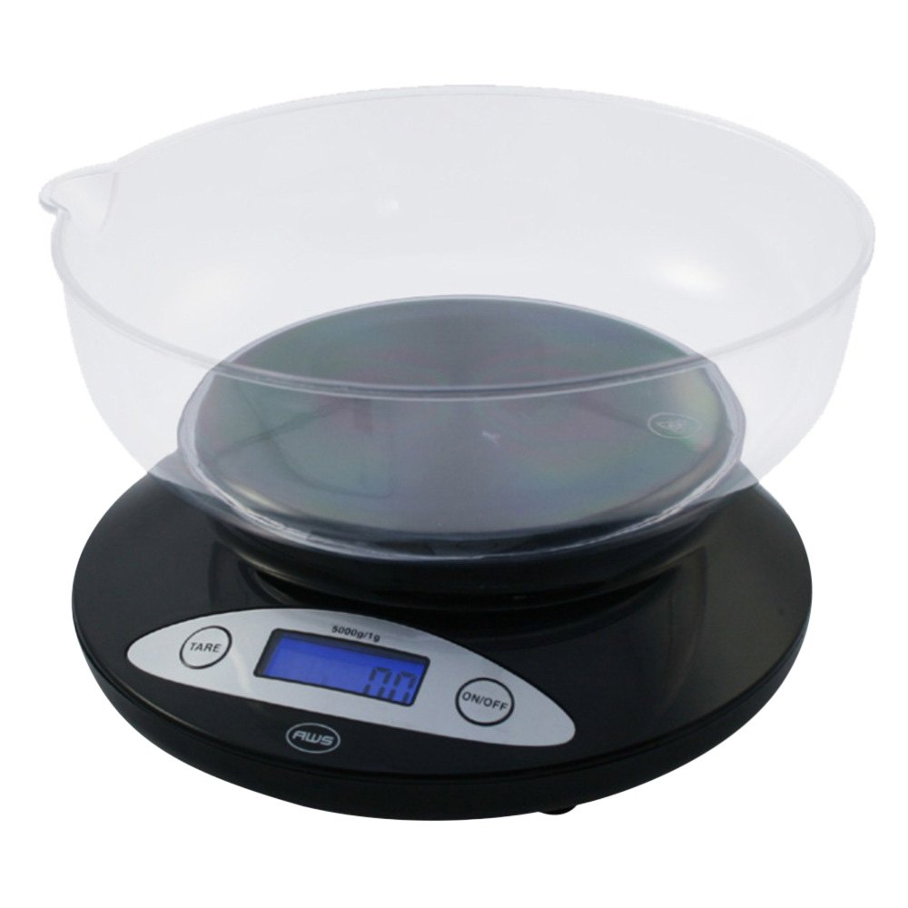 Aws Amw5kbowl Digital Kitchen Scale With Removable