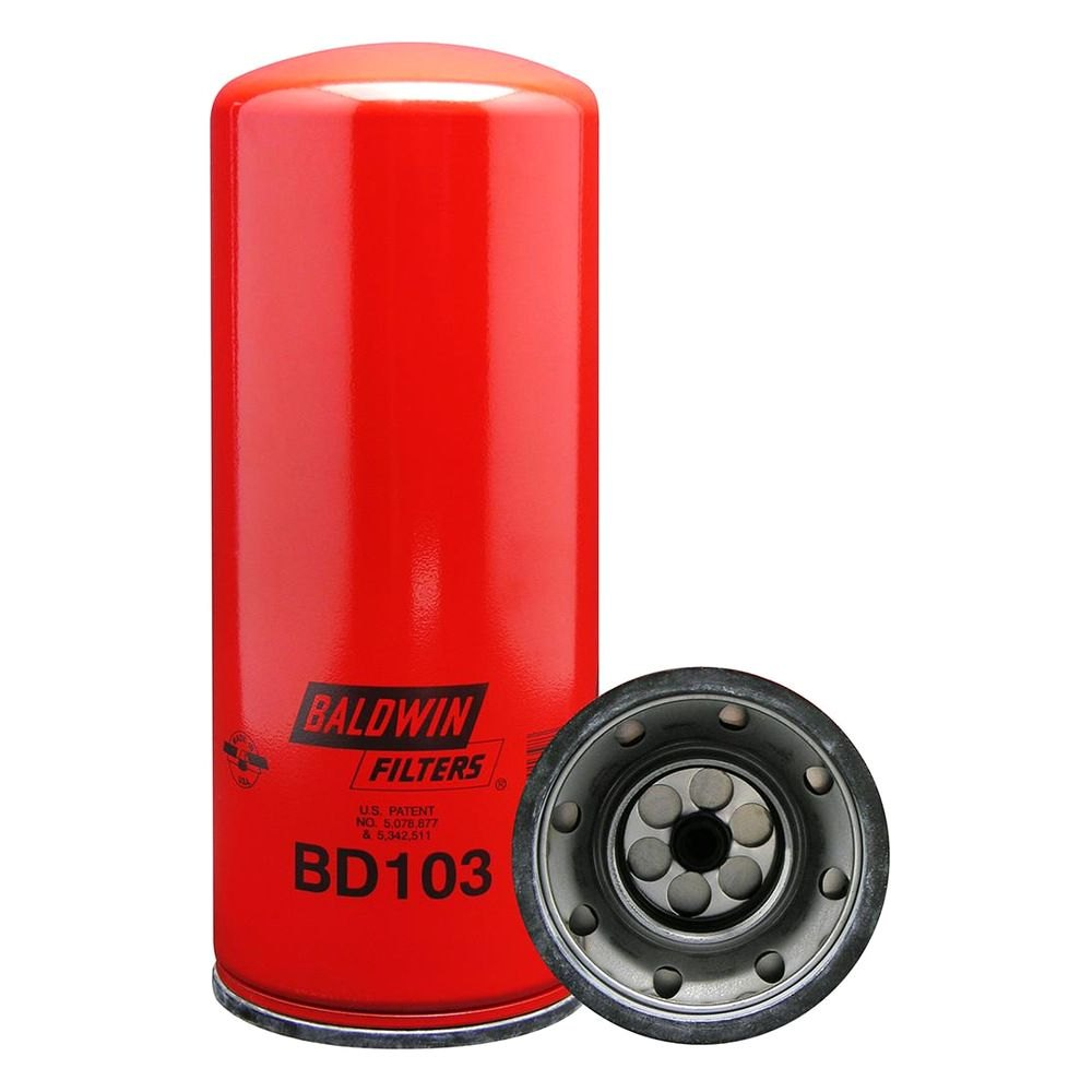 07 duramax fuel filters baldwin fuel filters baldwin filters bd103 - dual-flow spin-on oil filter