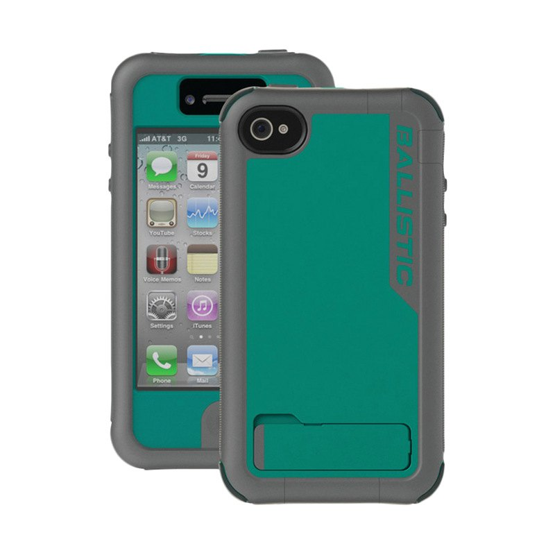 iPhone ballistic phone case iphone 4 : ... Casesu00ae EV0890-M125 - Charcoal/Turquoise Every1 Case for iPhone 4/4S