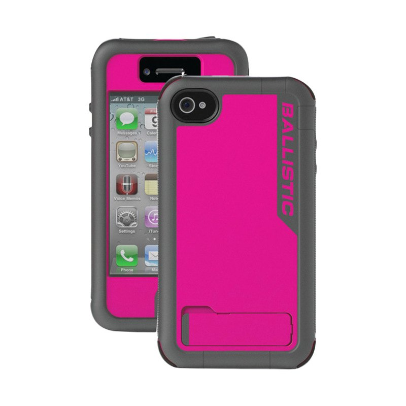 ... Casesu00ae - Raspberry Pink/Charcoal Gray Every1 Case for iPhone 4/4S