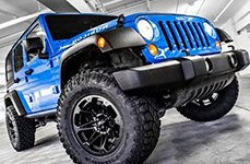 BALLISTIC® - JESTER Flat Black on Jeep Wrangler