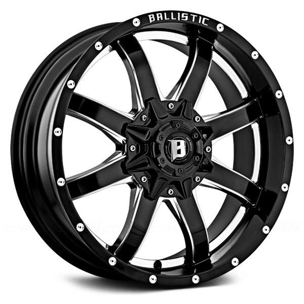 Black Ballistic Anvil 955 Wheels & Rims