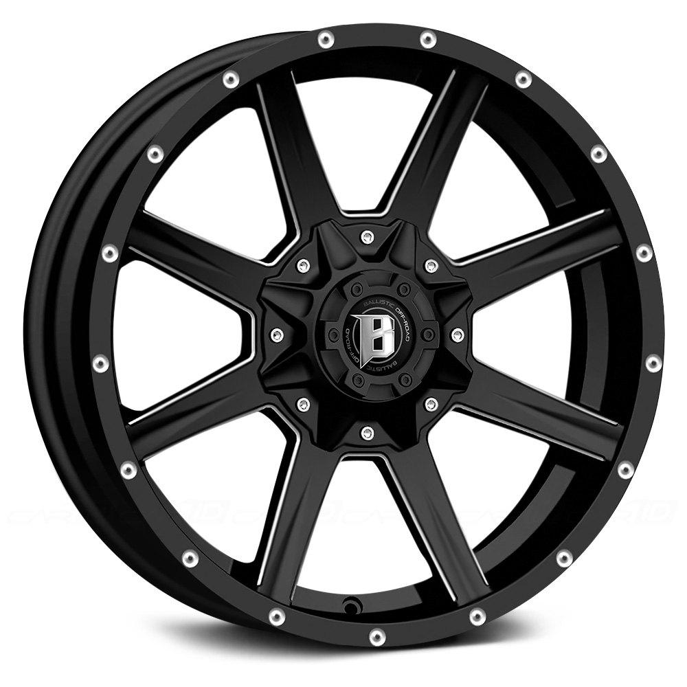 Black Ballistic Razorback 956 Wheels & Rims