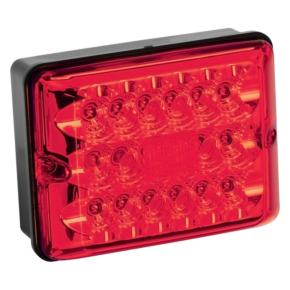 Bargman 48 86 101 86 Series Red Led Single Stop Tail Turn Light With Black Base