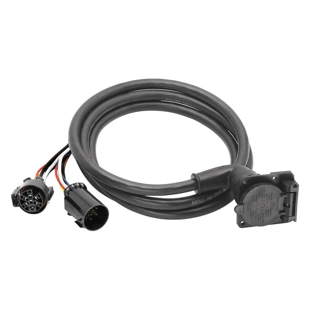 bargman® 50-97-410 - 9' 90 degrees 5th wheel and gooseneck wiring harness  carid.com