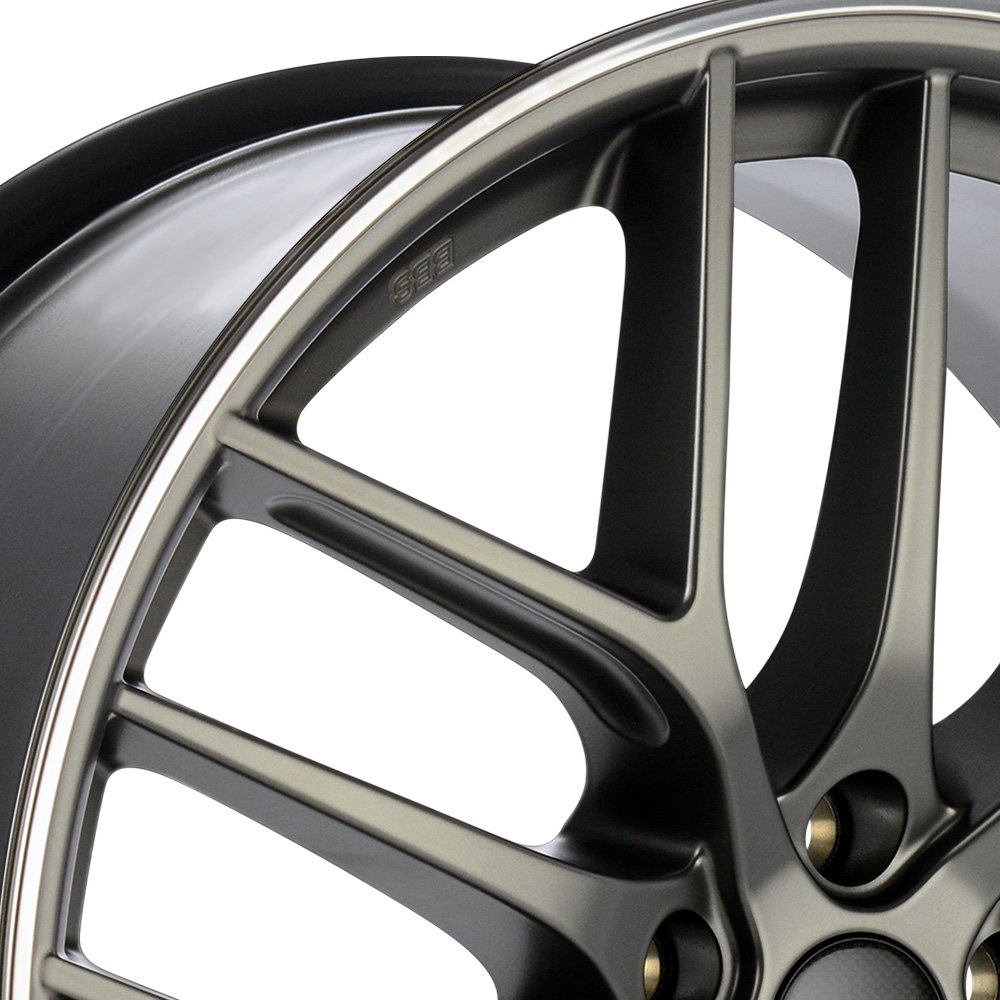 Bbs 174 Cc R Wheels Satin Platinum With Polished Stainless