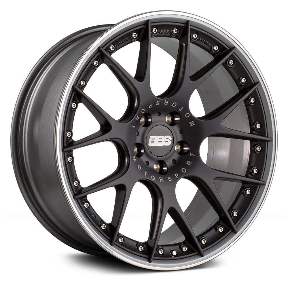 Bbs 174 Ch R Ii Wheels Satin Black With Polished Stainless