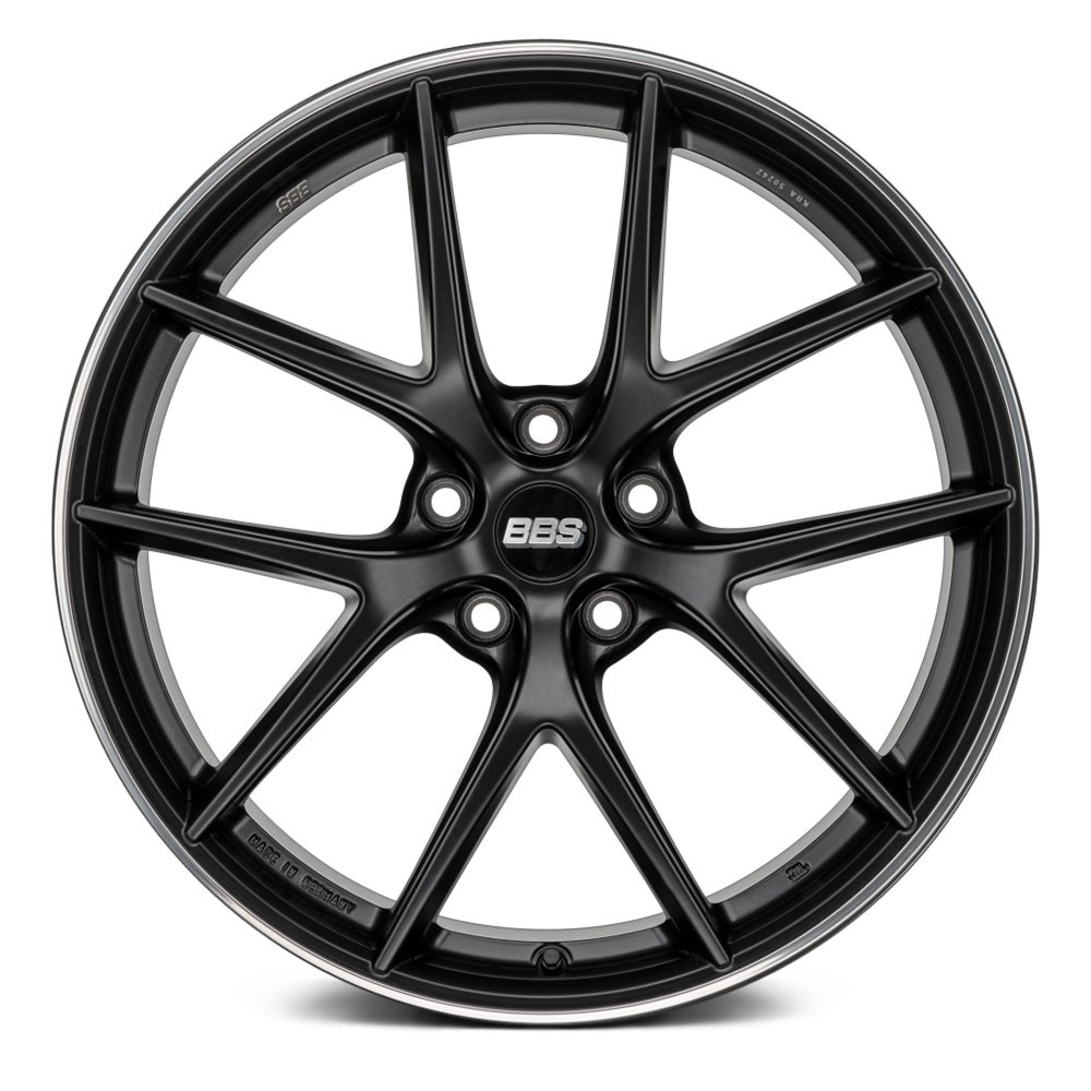 Bbs ci r wheels satin black with polished stainless