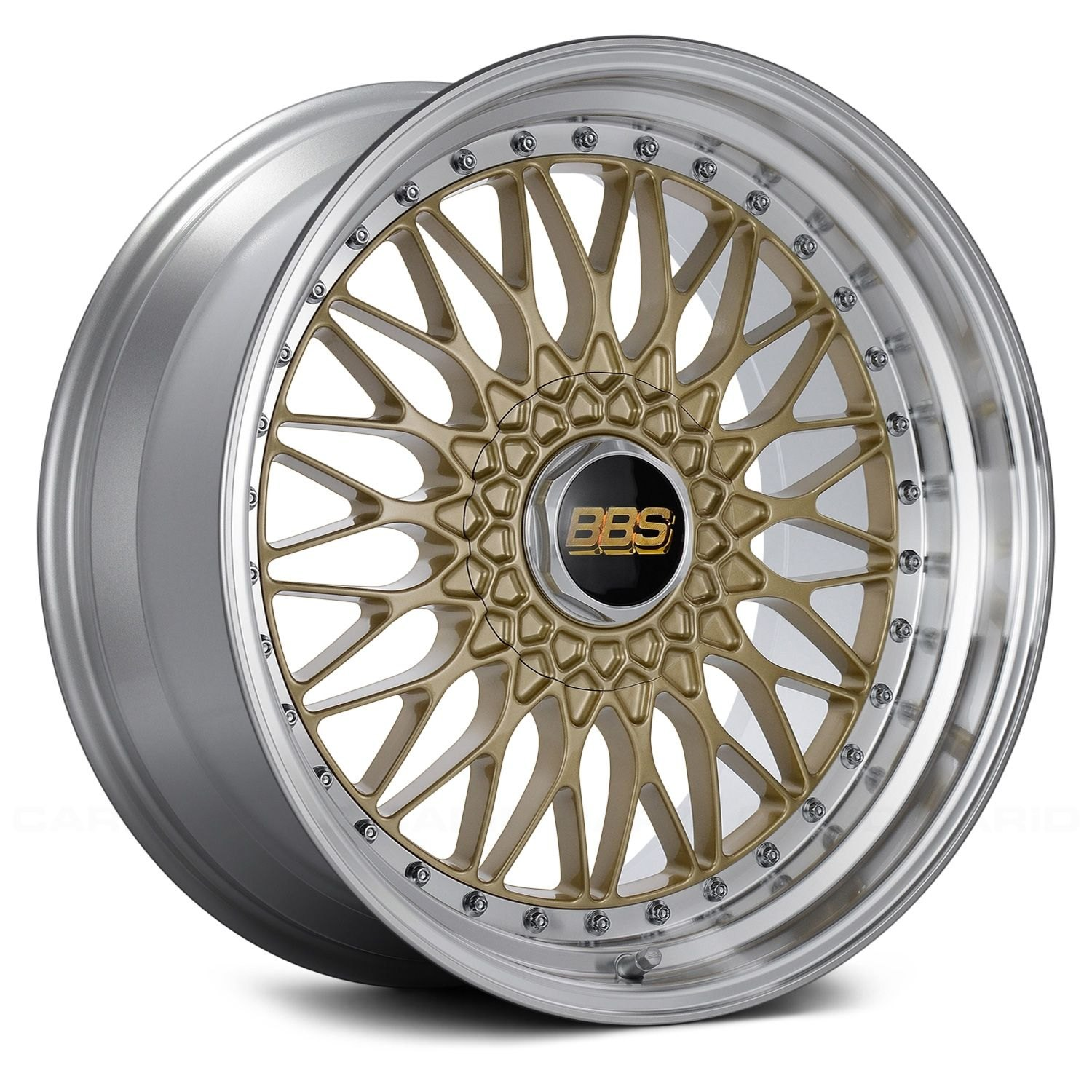 BBS® SUPER RS Wheels - Gold with Dia-Cut Rim and Clear Coat Rims ...