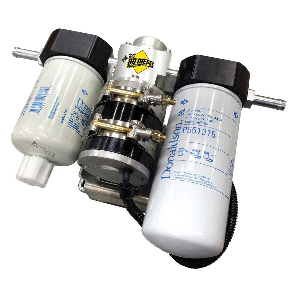 duramax fuel filter upgrades bd diesel performance® 1050340-pff - flow-max add-on post ...