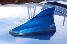 Blue Shark Fin Antenna