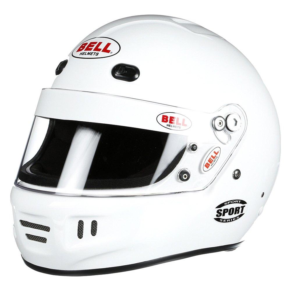 Bell Racing Helmets >> Bell Helmets® 2154343 - Racer Series Sport Medium (58-59) White Racing Helmet